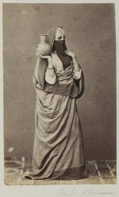 Photograph: Arab Woman with Vase, Cairo