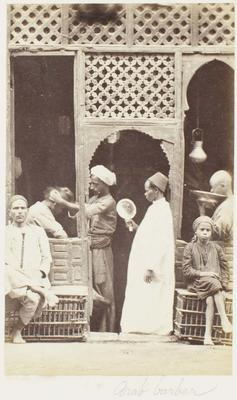 Photograph: Arab Barbers, Cairo