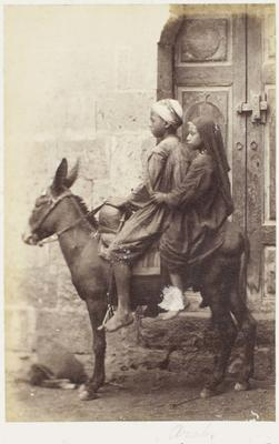 Photograph: Children on Donkey, Cairo