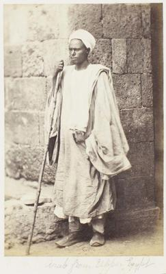 Photograph: Arab Man from Upper Egypt, Cairo