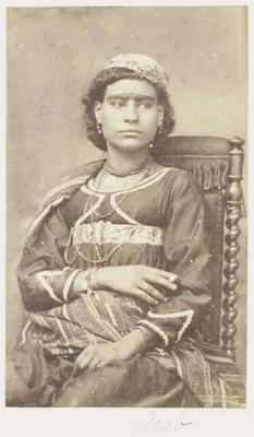 Photograph: Young Woman with Beaded Necklaces, Cairo