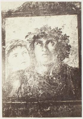 Photograph: Man and Woman Faces Illustration, Pompeii Frieze
