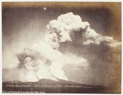 Photograph: Mount Vesuvius, Naples Italy, 26 April 1872