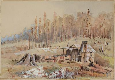 Painting: Bushman's Cottage Canterbury; 1890; 1978.194.1