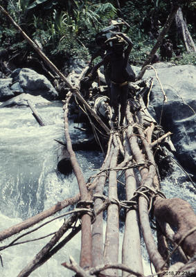 35mm Slide: Bridge Across Kembeh River