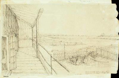 Sketch: View from Alfred Charles Barker's Balcony
