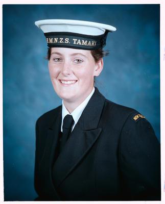 Negative: Pat Sinclair Navy Portrait
