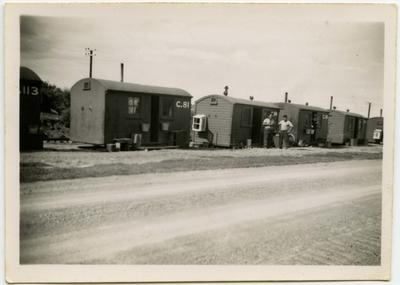 Photograph: Cabins in Public Works Department Camp