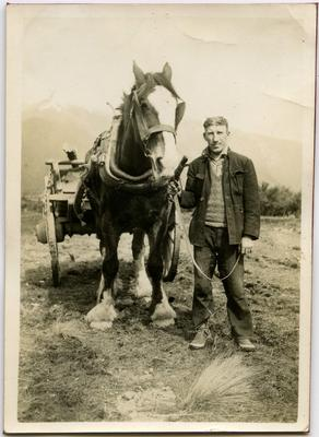 Photograph: Roy Murphy with Horse and Cart