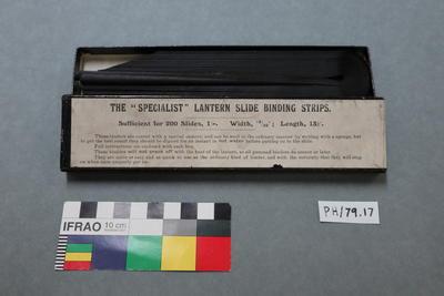 Binding Strips: For Lantern Slides