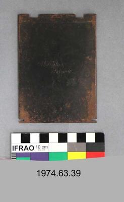 Plate Holder: Metal