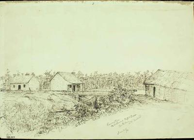 Pen and Ink Drawing on Paper: Riccarton; 20 Jun 1851; 1949.29.15