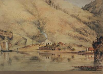 Painting: Queen Charlotte Sound, Jackson's Bay
