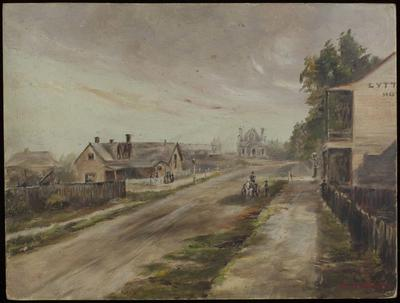 Painting: Oxford terrace in 1862