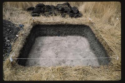 35mm Slide: Excavation Unit, Fyffe Site Archaeological Excavation (S49/46)