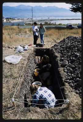 35mm Slide: Excavation Unit, Fyffe Site Archaeological Excavation (S49/46)