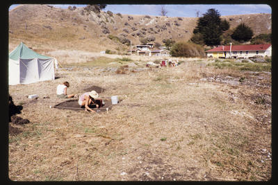 35mm Slide: Western View, Fyffe Site Archaeological Excavation (S49/46)