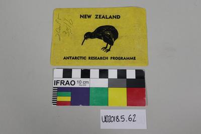 Sticker: Antarctic Research Programme