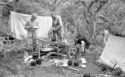 Negative: Camp Near Lake Te Au
