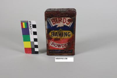 Tin: Bird's Baking Powder