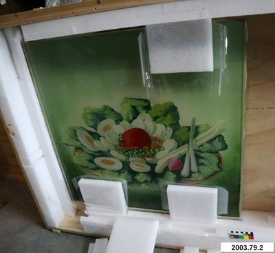 Roley's Milk Bar: Painted Glass Panel