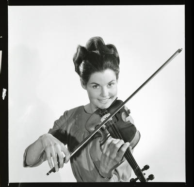 Negative: Mrs Paol with violin