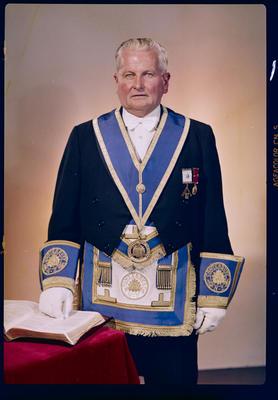 Negative: Mr Bowler Freemason portrait
