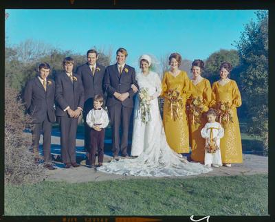 Negative: Brown-Oliver wedding