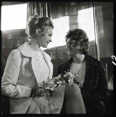 Negative: Sherriff-Brown bride and friend