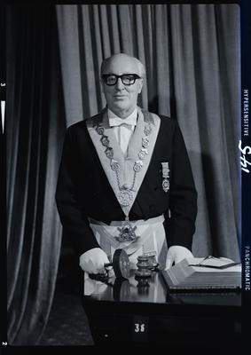 Negative: Mr J. N. Allan Freemason portrait