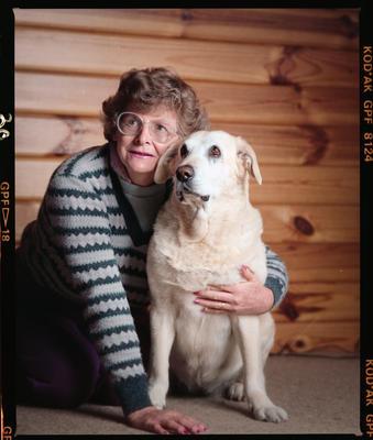 Negative: Noeline June Wise and Her Dog Sandy