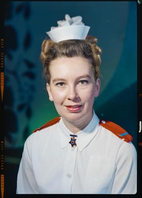 Negative: Miss Flitcroft nurse portrait; 14 Jun 1973; 2019.10.363