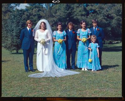 Negative: Knight-Barr wedding; 24 Nov 1973; 2019.10.385