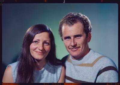 Negative: Mr and Mrs McDonald headshot