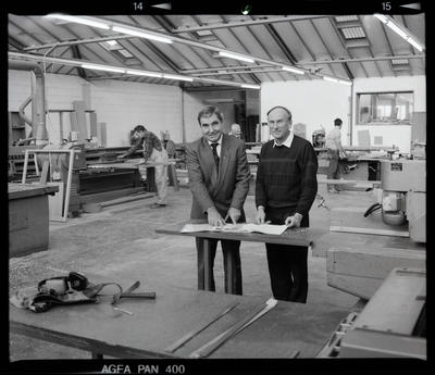 Negative: Two Men In Workshop