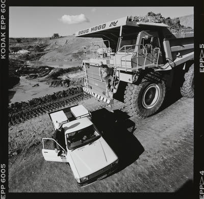 Negative: Truck And Ute On Worksite