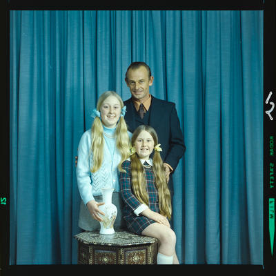Negative: Mr Kirkwood and daughters