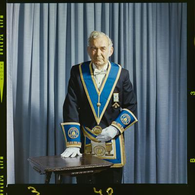 Negative: Mr K. H. Plimmer Freemason portrait