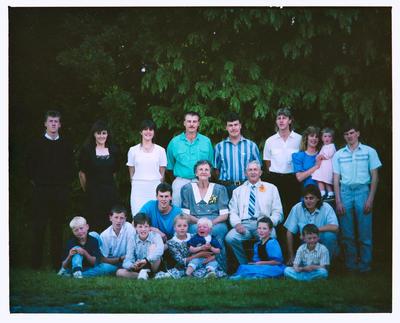 Negative: Vaughan Family Portrait