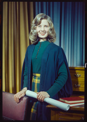 Negative: Miss Burton portrait