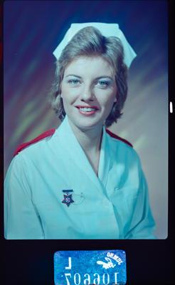 Negative: Miss V. Oxley nurse portrait