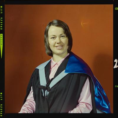 Negative: Miss B. Wilson graduation