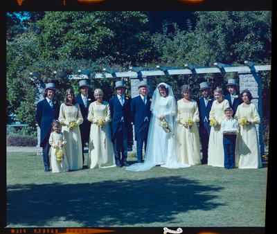 Negative: Skinner-Wildey wedding