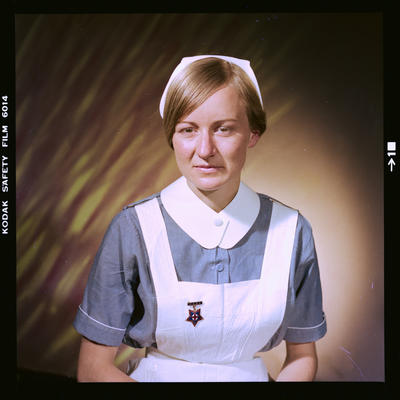 Negative: Miss D. Rhind nurse portrait