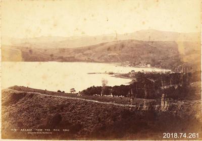 Photograph: Akaroa from the Kaik Road