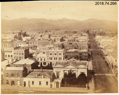 Photograph: Christchurch from Cathedral Tower