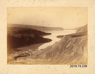 Photograph: Lake Tarawera from Wairoa after Eruption 10 June 1886