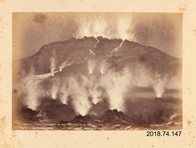 Photograph: Mount Tarawera in Eruption 10 June 1886 From Near White Terrace