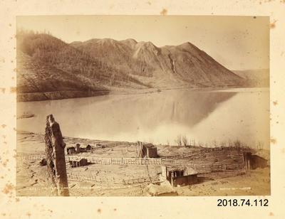 Photograph: Tikitapu Lake after Eruption, 10 June 1886