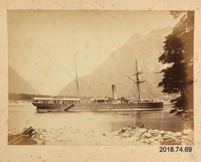 Photograph: SS 'Rotorua' in Milford Sound